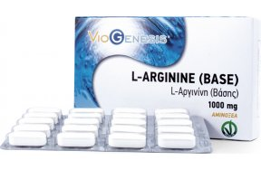 Viogenesis L-Arginine Base 1000mg 60 ταμπλέτες