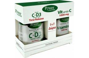 Power Health Classics Platinum Range Vitamin C+D3 1000mg 30 ταμπλέτες & Vitamin C 1000mg 20 ταμπλέτες