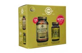 Solgar Magnesium Citrate 120 ταμπλέτες & V 2000 14 κάψουλες