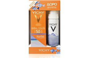Vichy Ideal Soleil Velvety Cream SPF50+ 50ml & Eau Thermale Spray 50ml