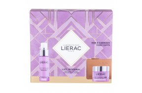Lierac Lift Integral For Normal - Dry Skin Sculpting Lift Cream 50ml, Superactivated Lift Serum 30ml & Rue des Fleurs Monaco Pouch