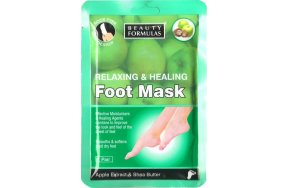 Beauty Formulas Relaxing & Healing Foot Mask 1 pair