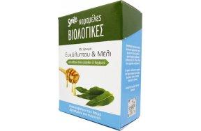 AM Health Smile Βιολογικές Καραμέλες με Ευκάλυπτο & Μέλι 15τμχ
